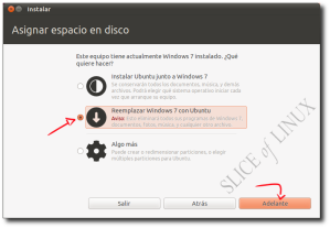 Eliminar Windows 7 e instalar Ubuntu