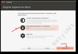 Eliminar Windows 7 e instalar Ubuntu